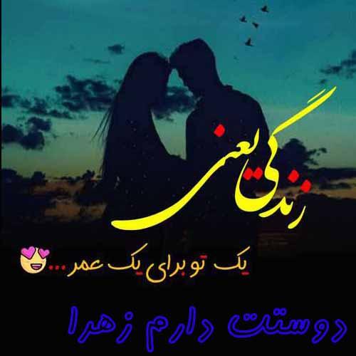 عکس نوشته دوستت دارم اسم زهرا  جدید