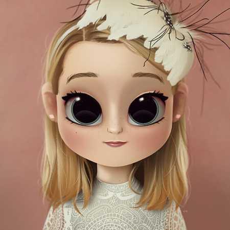 دختر خوشگل کارتونی